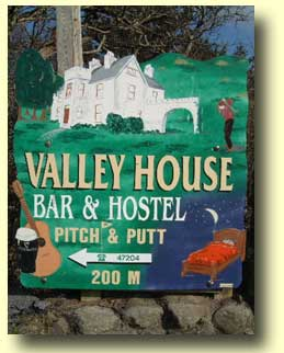 Valley House Road Sign